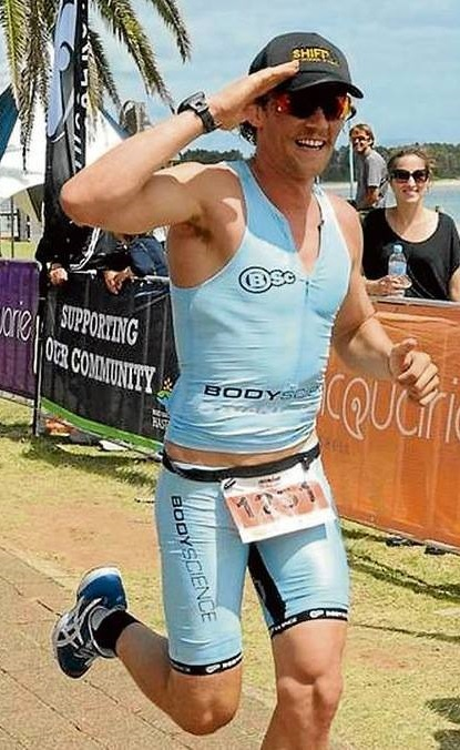 Adriel 'Bacon' Young who is a Bondi Rescue Lifeguard and up-and-coming triathlete and has promised to learn Swedish or pay $100 to SURFAID.
